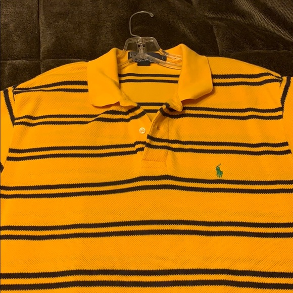 Ralph Lauren Men/'s España Spain Polo Shirt Custom Slim Fit Navy Blue Size M
